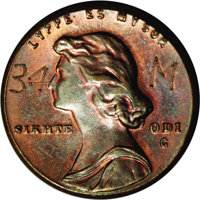 Undated (ca. 1967) P1C General Motors Pattern Cent, Pollock-4060, R.5. MS65 Red and Brown NGC. A second example of these...