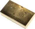 """Patterns: , Undated (ca. 1964) P25C DuPont Detaclad Ingot. An ingot of DuPont's """"Explosion Bonded Detaclad"""" that was used to produce th..."""