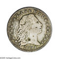 Early Half Dimes: , 1794 H10C --Damaged--NCS. XF Details. V-2, LM-2, R.5. Reiver statea. The obverse and reverse have a number of scratches and...