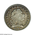 Early Half Dimes: , 1794 H10C V-3a, LM-3. R.4. AU55 NGC. Reiver state b. Dark charcoalgray in color throughout and attractive. The strike is s...