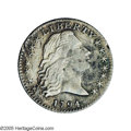 Early Half Dimes: , 1794 H10C V-4a, LM-4, R.4.--Damaged--NCS. XF Details. Reiver stateb. This coin was likely in a fire as the surfaces show e...