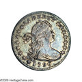 "Early Half Dimes: , 1796 H10C V-1, LM-1, R.3. Reiver state a.--Bent--NCS. AU Details.""LIKERTY"". There is no visible indication that this coin i..."