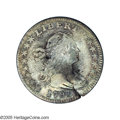 Early Half Dimes: , 1797 H10C V-2, LM-1, R.3. 15 Stars--Damaged--NCS. VF Details.Reiver state b. The damage consists of some dull marks on bot...
