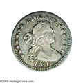 Early Half Dimes: , 1801 H10C V-1, and V-2, LM-2, R.4. Reiver state a. AG3 NGC. A verynice coin for the grade with medium steel-gray and a sha...