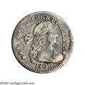 Early Half Dimes: , 1801 H10C V-1 and V-2, LM-2, R.4. Reiver state d.--Bent--NCS. FineDetails. This coin is apparently bent with telltale unev...
