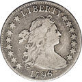 Early Dimes: , 1796 10C JR-4, R.4. VF20 NGC. The TY in LIBERTY touch at the peakof the letters, and the first star is distant from the bu...