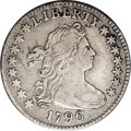 Early Dimes: , 1796 10C JR-5, R.5. VF30 NGC. The obverse exhibits intermingledgold and lilac-gray with a splash of charcoal gray on Liber...