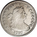 Early Dimes: , 1797 10C 13 Stars. JR-2, R.4.--Improperly Cleaned--NCS. VF Details.Predominantly bright silver with a touch of peripheral ...