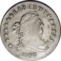 Early Dimes: , 1798/97 10C 16 Stars on Reverse. JR-1, R.3.--Obverse Repaired--NCS.AU Details. Light silver with mottled gray colors on th...