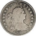 Early Dimes: , 1798/97 10C 13 Stars on Reverse. JR-2, R.6. VG8 NGC. Silvery-graytoning on the high points deepens to gunmetal gray in the...