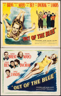 "Movie Posters:Comedy, Out of the Blue (Eagle Lion, 1947). Half Sheets (2) (22"" X 28"") Blue & Yellow Styles. Comedy.. ... (Total: 2 Items)"