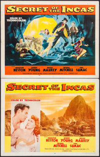 "Secret of the Incas (Paramount, 1954). Half Sheets (2) (22"" X 28"") Styles A & B. Adventure. ... (Total: 2..."