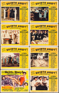 """Skirts Ahoy! & Other Lot (MGM, 1952). Lobby Card Set of 8 (11"""" X 14"""") & One Sheet (27"""" X 41""""..."""