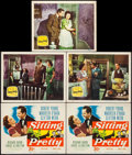"""Movie Posters:Comedy, Sitting Pretty (20th Century Fox, 1948). Title Lobby Cards (2) Identical & Lobby Cards (3) (11"""" X 14""""). Comedy.. ... (Total: 5 Items)"""