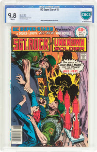 DC Super-Stars #15 Sgt. Rock and The Unknown Soldier (DC, 1977) CBCS NM/MT 9.8 White pages