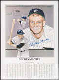Baseball Collectibles:Others, Mickey Mantle Signed Lithograph. ...