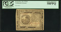Colonial Notes:Continental Congress Issues, Continental Currency November 29, 1775 $6 PCGS Choice About New 58PPQ.. ...