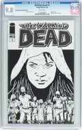Modern Age (1980-Present):Horror, The Walking Dead #1 Wizard World Sacramento Sketch Edition (Image,2015) CGC NM/MT 9.8 White pages....