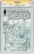 Modern Age (1980-Present):Horror, The Walking Dead #1 Wizard World Ft. Lauderdale Sketch Edition -Signature Series (Image, 2015) CGC NM/MT 9.8 White pages....