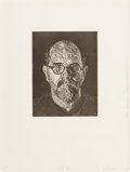 Prints, Chuck Close (b. 1940). Self Portrait #2, 1997. Linocut on wove paper. 11-5/8 x 9 inches (29.5 x 22.9 cm) (image). 24 x 1...