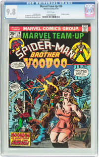 Marvel Team-Up #24 Spider-Man and Brother Voodoo (Marvel, 1974) CGC NM/MT 9.8 White pages