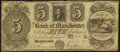 Obsoletes By State:Michigan, Manchester, MI- Bank of Manchester $5 Nov. 20, 1837. ...