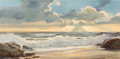 Paintings, Robert William Wood (American, 1889-1979). Crystal Cove. Oil on canvas. 24 x 48 inches (61.0 x 121.9 cm). Signed lower r...
