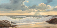 Robert William Wood (American, 1889-1979) Crystal Cove Oil on Canvas 24 x 48 inches (61.0 x 121.9