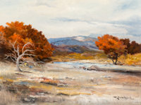 Robert William Wood (American, 1889-1979) Fall Landscape Oil on canvas 18 x 24 inches (45.7 x 61