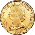 Colombia, Colombia: Republic gold 16 Pesos 1846 POPAYAN-UM MS62 NGC,...
