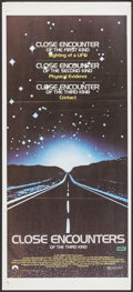 "Movie Posters:Science Fiction, Close Encounters of the Third Kind (Columbia, 1978). AustralianDaybill (13.25"" X 29.75""). Science Fiction.. ..."