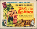 "Movie Posters:Adventure, Wake of the Red Witch (Republic, 1949). Half Sheet (22"" X 28"")Style A. Adventure.. ..."