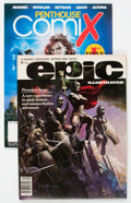 Magazines:Science-Fiction, Epic Illustrated #1/Penthouse Comics #1 Group (Marvel, 1980-95)....(Total: 2 Items)