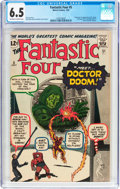 Silver Age (1956-1969):Superhero, Fantastic Four #5 (Marvel, 1962) CGC FN+ 6.5 Off-white to whitepages....