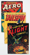 Golden Age (1938-1955):Miscellaneous, Comic Books - Assorted Golden Age Comics Group of 5 (Various Publishers, 1940s) Condition: Average GD.... (Total: 5 Comic Books)