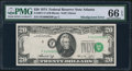 Error Notes:Shifted Third Printing, Fr. 2071-F $20 1974 Federal Reserve Note. PMG Gem Uncirculated 66 EPQ.. ...