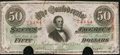 Confederate Notes:1863 Issues, T57 $50 1863 PF-4 Cr. 409.. ...