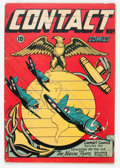 Golden Age (1938-1955):War, Contact Comics #9 (Aviation Press, 1945) Condition: VG/FN....