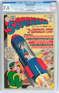 Superman #146 (DC, 1961) CGC VF- 7.5 Off-white to white pages