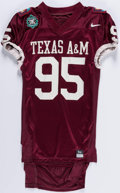 Football Collectibles:Uniforms, 1995 Alamo Bowl Ed Jasper Game Used Texas A&M Jersey. ...
