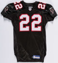 Football Collectibles:Uniforms, 2002 Gerald McBurrows Game Used & Signed Atlanta Falcons Jersey. ...