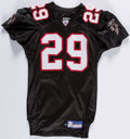 Football Collectibles:Uniforms, 2002 Keion Carpenter Game Issued & Signed Atlanta Falcons Jersey. ...