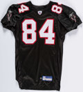 Football Collectibles:Uniforms, 2002 Shawn Jefferson Game Issued & Signed Atlanta Falcons Jersey. ...