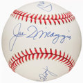 Autographs:Baseballs, Joe DiMaggio, Don Mattingly & Reggie Jackson Multi-SignedBaseball. ...
