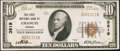 National Bank Notes:Kansas, Chanute, KS - $10 1929 Ty. 1 The First NB Ch. # 3819. ...