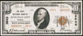 National Bank Notes:Kansas, Junction City, KS - $10 1929 Ty. 2 The First NB Ch. # 3543. ...