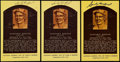 Autographs:Letters, Sandy Koufax Signed Yellow Hall of Fame Postcards (3). ...