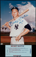 Autographs:Photos, Mickey Mantle Signed 8x10 Photo. ...
