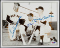 Autographs:Letters, Mickey Mantle, Yogi Berra, & Ted Williams Signed 8x10 Photo....