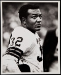 Football Collectibles:Photos, 1957-65 Jim Brown Original Photo by Malcolm Emmons. ...